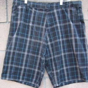 Burnside Casual Shorts Mens  Plaid Size 38